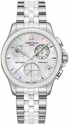 Certina DS First C030.250.11.106.00 Lady Chronograph Moon Phase