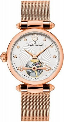 Claude Bernard Dress Code 85022 37RM APR Automatic Open Heart Lady