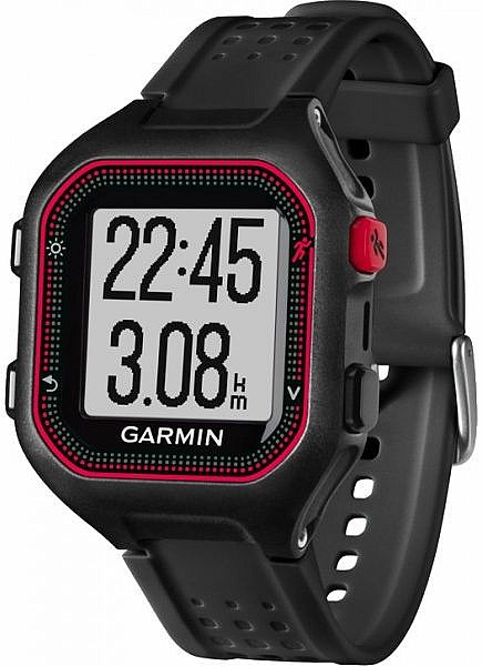 Garmin Forerunner 25 Black/Red s GPS (vel. XL)