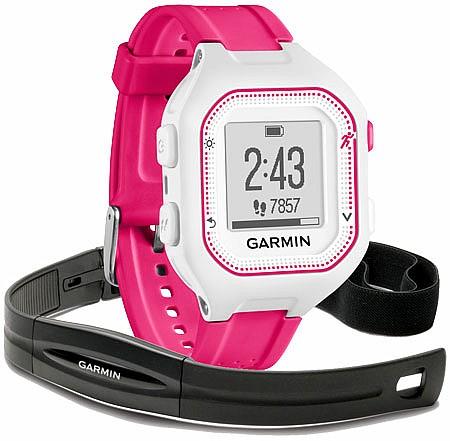 Garmin Forerunner 25 White/Pink HR s GPS (vel. S)