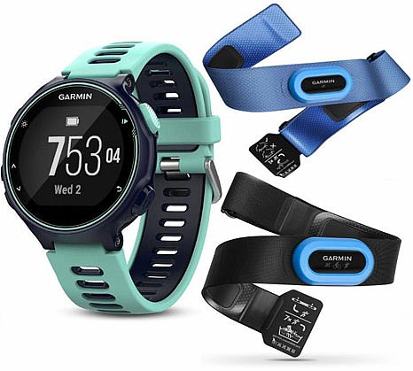 Garmin Forerunner 735XT Blue Optic Tri Bundle s GPS