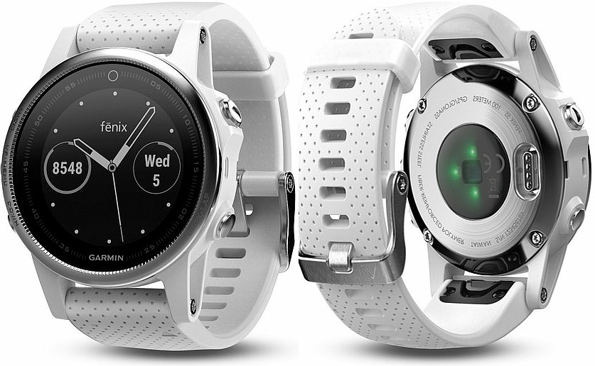 Garmin Fenix 5 S Silver Optic White Band s GPS