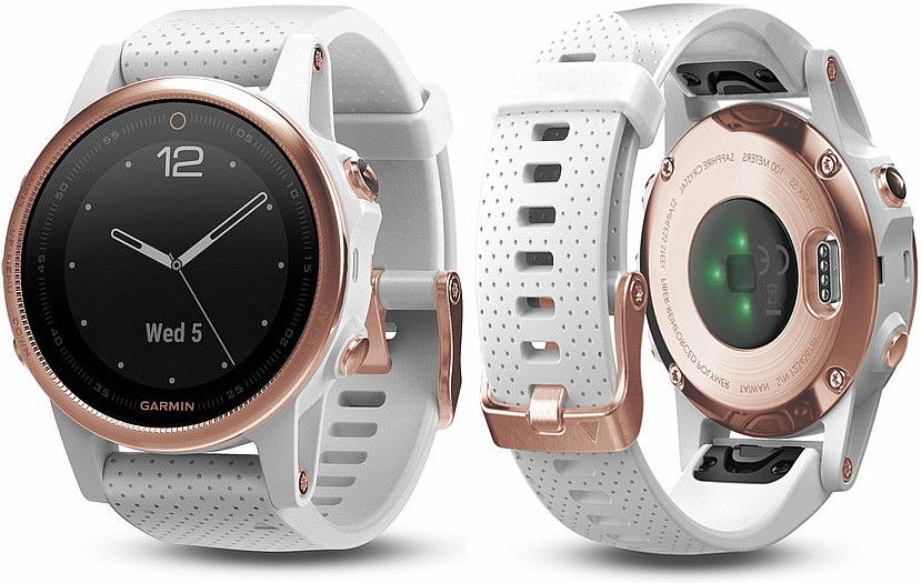 Garmin Fenix 5 S Sapphire Rose Gold Optic, White band s GPS