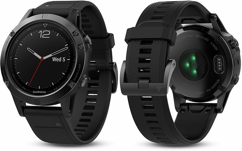Garmin Fenix 5 Black Sapphire Optic Black Band s GPS