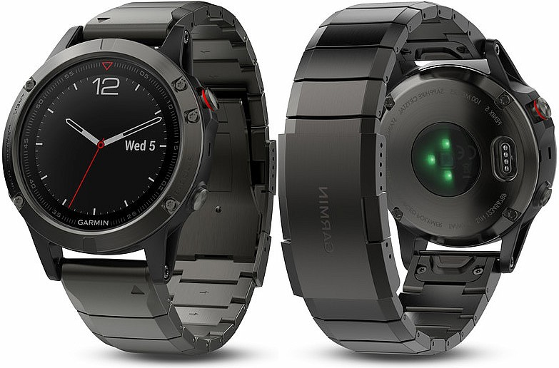 Garmin Fenix 5 Gray Sapphire Optic Metal Band s GPS