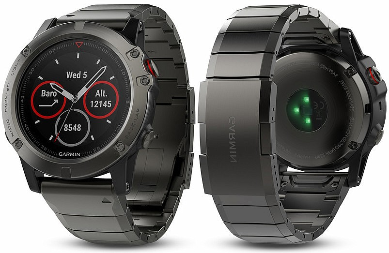Garmin Fenix 5 X Gray Sapphire Optic Metal band s GPS