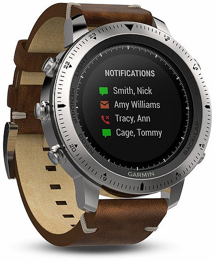 Garmin Fenix Chronos Leather Optic Smart Watch s GPS
