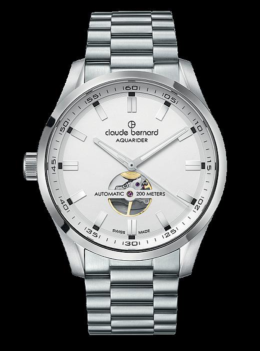 Claude Bernard Sporting Soul 85026 3M AIN Aquarider Open Heart Automatic