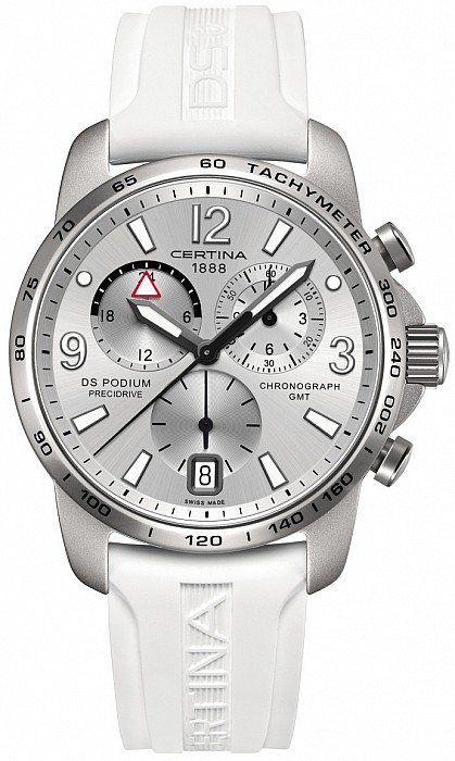 Certina DS Podium C001.639.97.037.00 Big size Chrono GMT Aluminium