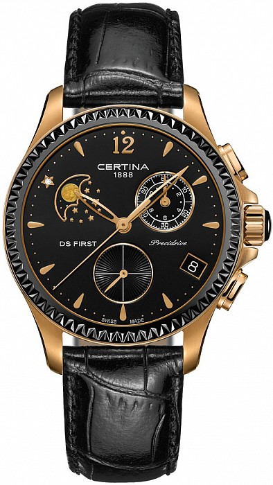 Certina DS First C030.250.36.056.00 Lady Chronograph Moon Phase