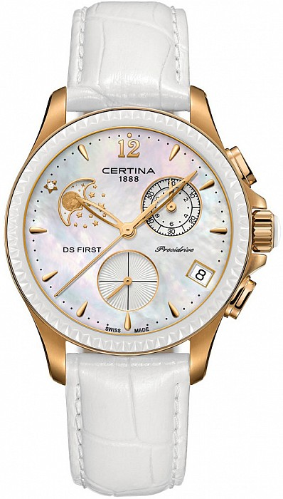 Certina DS First C030.250.36.106.00 Lady Chronograph Moon Phase
