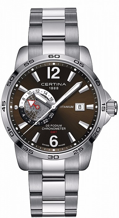Certina DS Podium C034.455.44.087.00 GMT Precidrive Ttianium