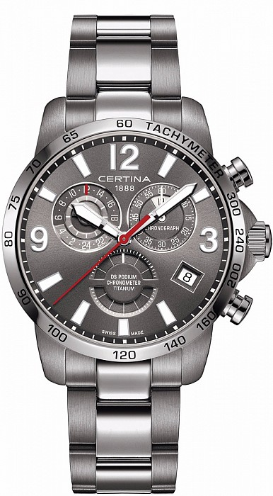 Certina DS Podium C034.654.44.087.00 Chronograph GMT Titanium
