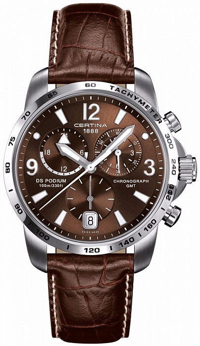 Certina DS Podium C001.639.16.297.00 Big Size Chrono GMT