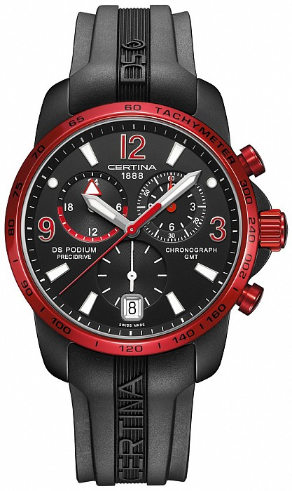 Certina DS Podium C001.639.97.057.02 Big size Chrono GMT Aluminium