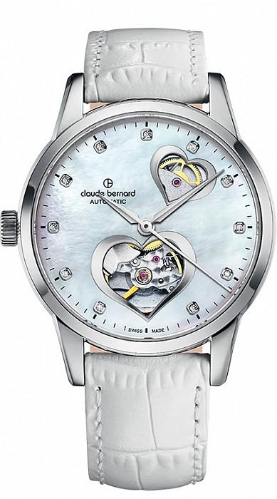 Claude Bernard Classic 85018 3 NAPN2 Lady Automatic Open Heart
