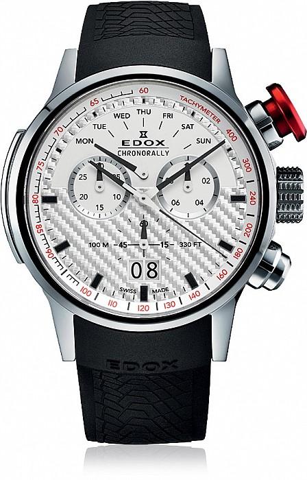 Edox Chronorally 38001 TIN AIN Quartz Chronograph