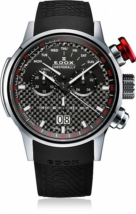 Edox Chronorally 38001 TIN NIN Quartz Chronograph