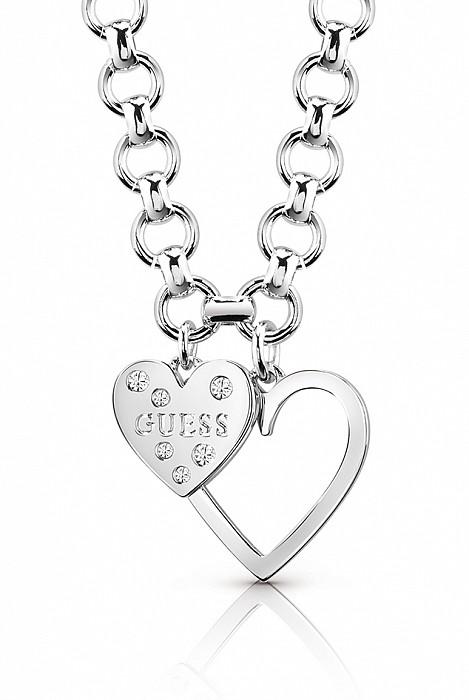 Guess UBN84012 řetízek HEART IN HEART (silver). Guess UBN84012 řetízek  HEART IN HEART (silver) acc7107fac3