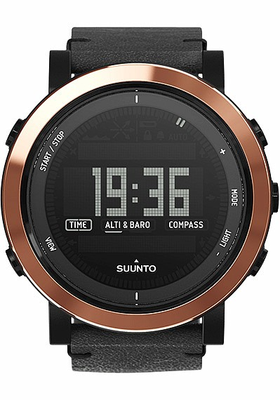 Suunto Essential Ceramics Copper Black Leather