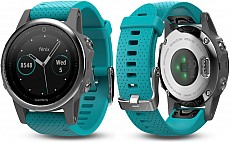 Garmin Fenix 5 S Silver Optic Blue Band s GPS