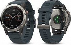 Garmin Fenix 5 Silver Optic Granite Blue band s GPS