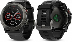 Garmin Fenix 5 X Gray Sapphire Optic Black Band s GPS