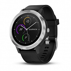 Garmin vívoACTIVE3 Optic Silver s GPS, black band