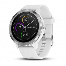 Garmin vívoACTIVE3 Optic Silver s GPS, White band