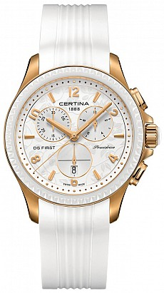 Certina DS First C030.217.37.037.00 Lady ceramic chrono