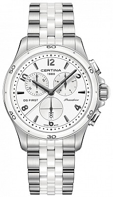 Certina DS First C030.217.11.017.00 Lady ceramic chrono