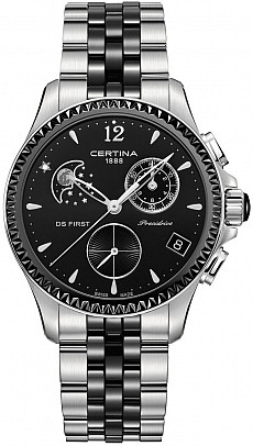 Certina DS First C030.250.11.056.00 Lady Chronograph Moon Phase