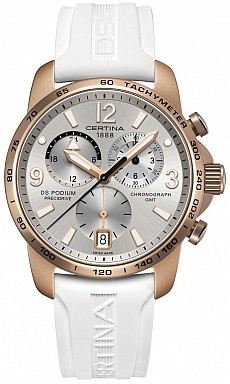 Certina DS Podium C001.639.97.037.01 Big size Chrono GMT Aluminium