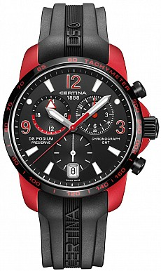 Certina DS Podium C001.639.97.057.01 Big size Chrono GMT Aluminium