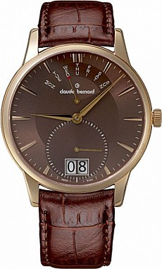Claude Bernard Classic 34004 37R BRIR Big Date Retrograde Day