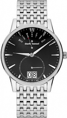 Claude Bernard Classic 34004 3M NIN Big Date Retrograde Day