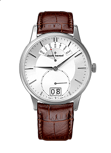 Claude Bernard Classic 34004 3 AIN Big Date Retrograde Day