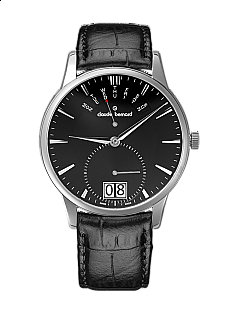 Claude Bernard Classic 34004 3 NIN Big Date Retrograde Day