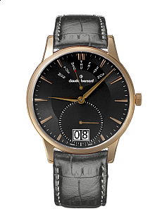 Claude Bernard Classic 34004 37R GIR Big Date Retrograde Day