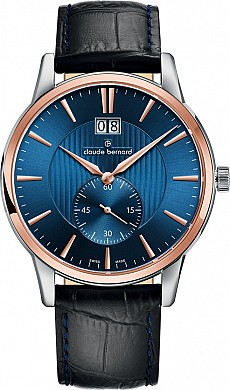 Claude Bernard Classic 64005 357R BUIR Big Date Small Second