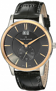 Claude Bernard Classic 64005 357R GIR Big Date Small Second