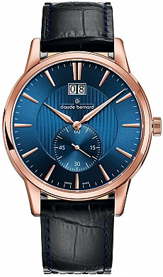 Claude Bernard Classic 64005 37R BUIR Big Date Small Second