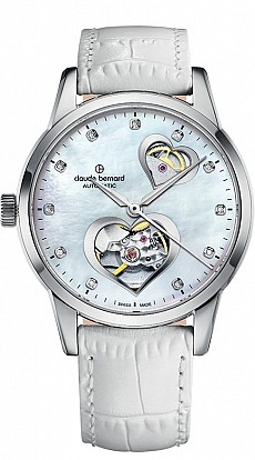 Claude Bernard Classic 85018 3 NAPN2 Lady Automatic Open Heart