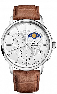 Edox Les Bémonts 01651 3 AIN Chronograph Moon Phase
