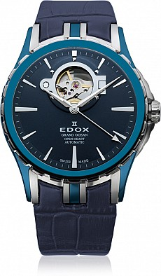 Edox Grand Ocean 85008 357B BUIN Open Heart Automatic
