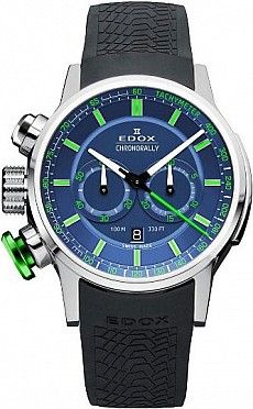 Edox Chronorally 10302 3V2 BUV3 Chronograph