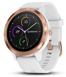 Garmin vívoACTIVE3 Optic Rose Gold s GPS, White band
