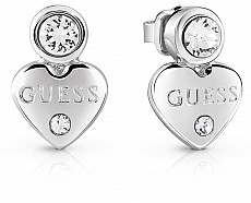Guess UBE82001 náušnice srdce GUESSY (SILVER)