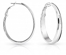 Guess UBE84037 náušnice HOOPS I DID IT AGAIN (silver)