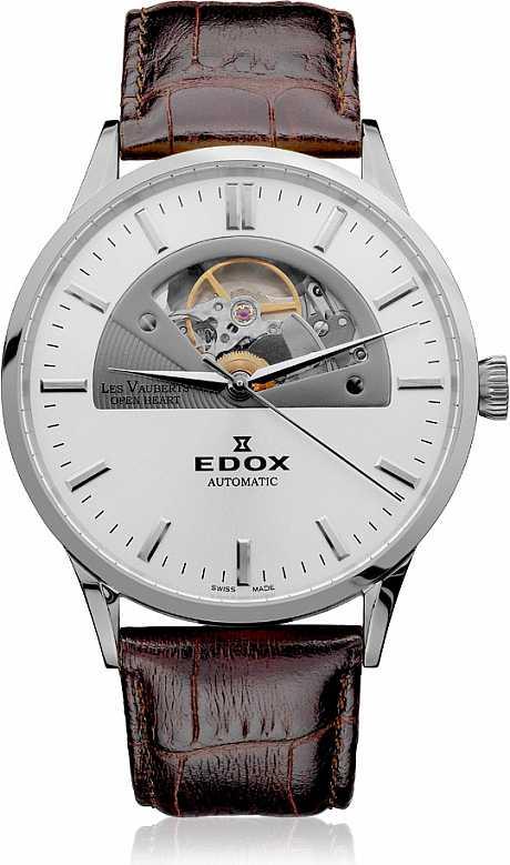 Edox Les Vauberts 85014 3 AIN Open Heart Automatic + DÁREK natahovač  Friedrich Lederwaren 29475- a530e29a01c